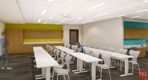 Frank & Ellen Innovation Center Classroom with People | Champions for Learning