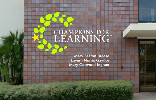 Planned Giving Signage - Mary Seaton Breese, Lavern Norris Gaynor, Mary Garwood Ingram - Champions For Learning
