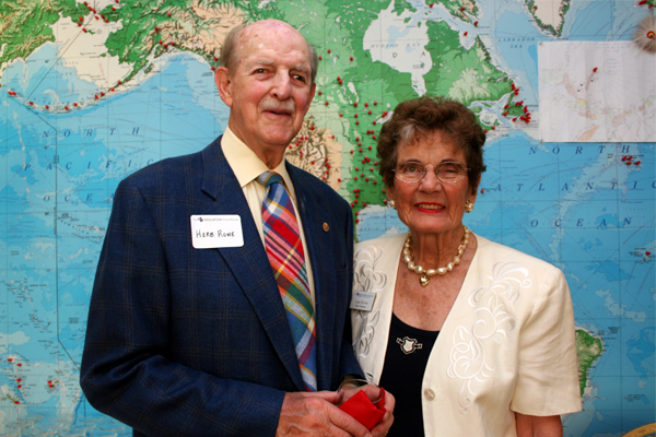 Herb and Ann Rowe - Heart Of The Apple Recipient - Champions For Learning